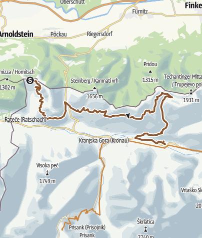 Map / 3Ländereck-Gozdmartuljek