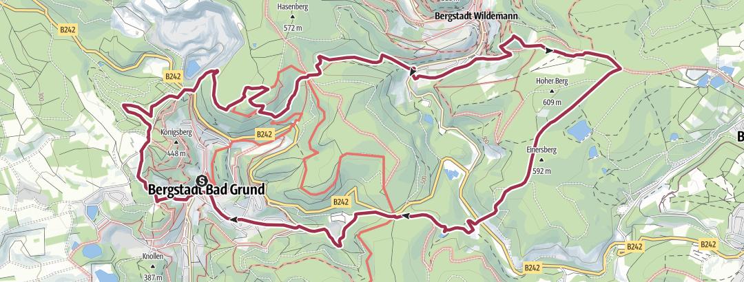 Karte / Bad Grund<>Wildemann