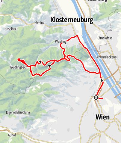 Karte / nördliche Wienerwald-trails