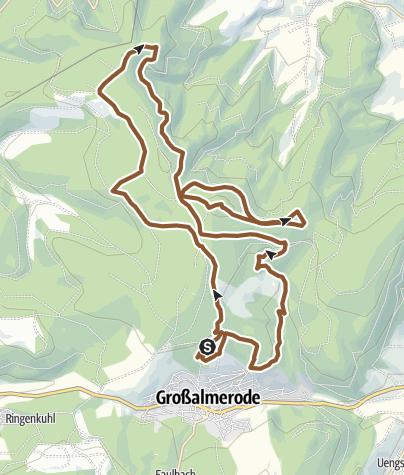 Karte / Bilstein Hobbystrecke Bike Marathon 21km