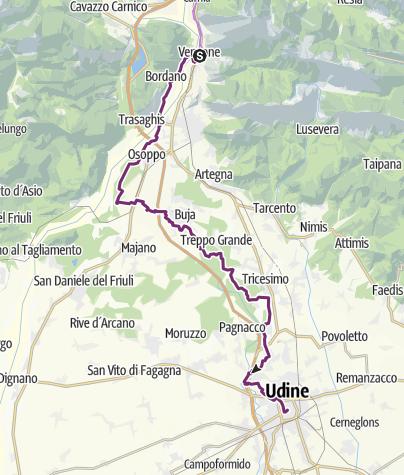 Map / 7 stage Venzone-Udine