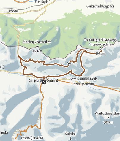 Map / Techantiner Mittagskogel Trail