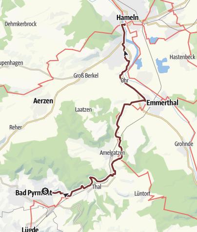 Karte / KPW2018_22 - von Bad Pyrmont nach Hameln am 30.09.2018