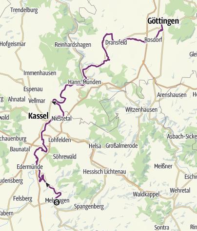 Karte / Melsungen - Göttingen