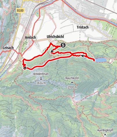 Kaart / Tristacher See und Garnison Steig