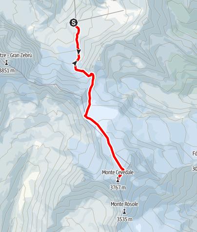 Kaart / Monte Cevedale