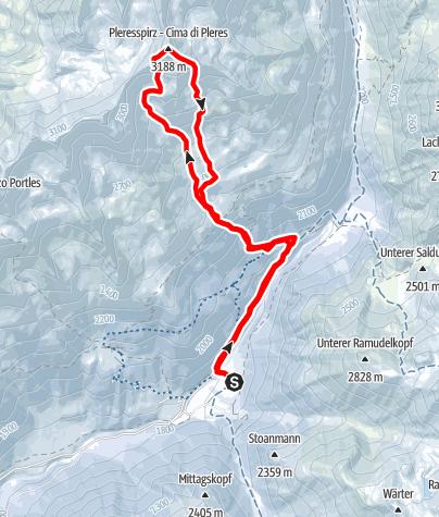 Kaart / Pleresspitze (3188m)