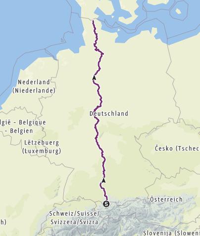 Karte / Deutschlandradtour 2018
