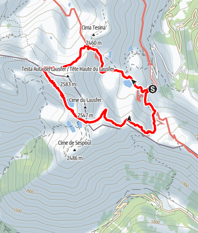Kaart / Cuneo-Sturatal_Die-Seen-von-Sant-Anna