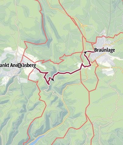 Karte / Von St. Andreasberg über den alten Postweg nach Braunlage