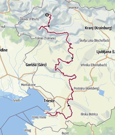 Map / Slovene High Level Route Teil 2