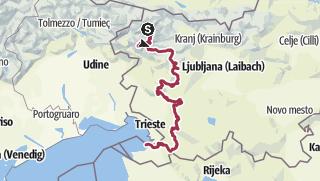 Karte / Slovene High Level Route Teil 2