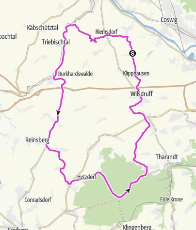 Karte / Tour für Mittwoch