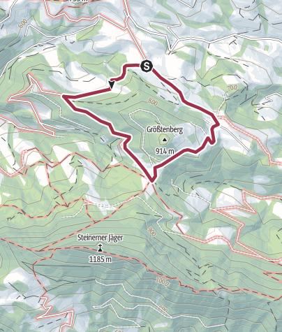 Karte / Rund um den Krestenberg