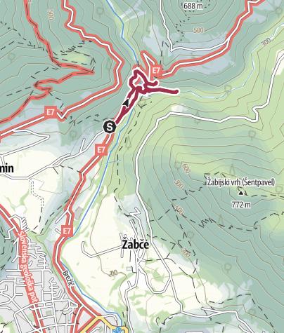 Map / Tolminka Schlucht