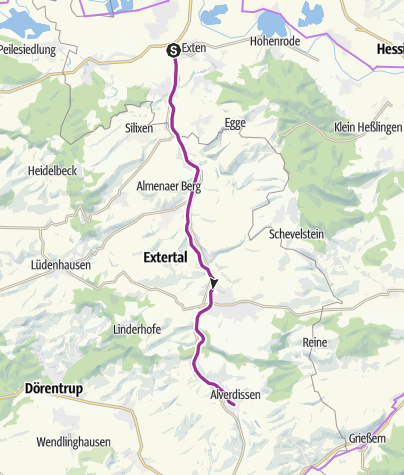 Karte / 2018-10-14 Draisine Rinteln-Alverdissen