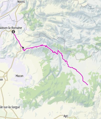 Carte / Tour Genf-Nizza Etappe 4