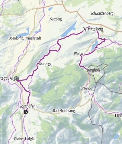 Map / 4 Etappe,  Sonthofen-Jungholz