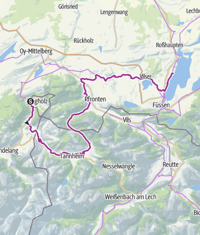 Map / 5 Etappe, Camping Jungholz- Camping Magdalena