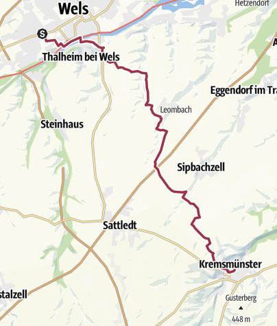 Karte / Wels - Kremsmünster