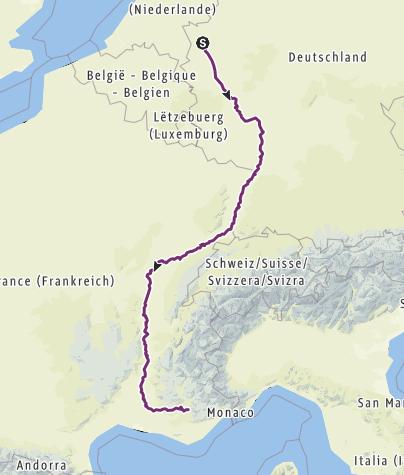 Carte / Niederrhein - Puimoisson