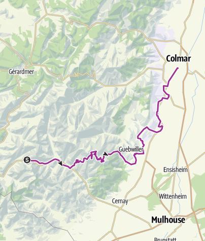 Carte / Moselquelle-Grand Ballon-Colmar