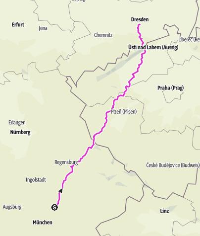 Karte / Nonstop nach Dresden