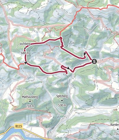 Karte / Rundtour über Friedenskreuz