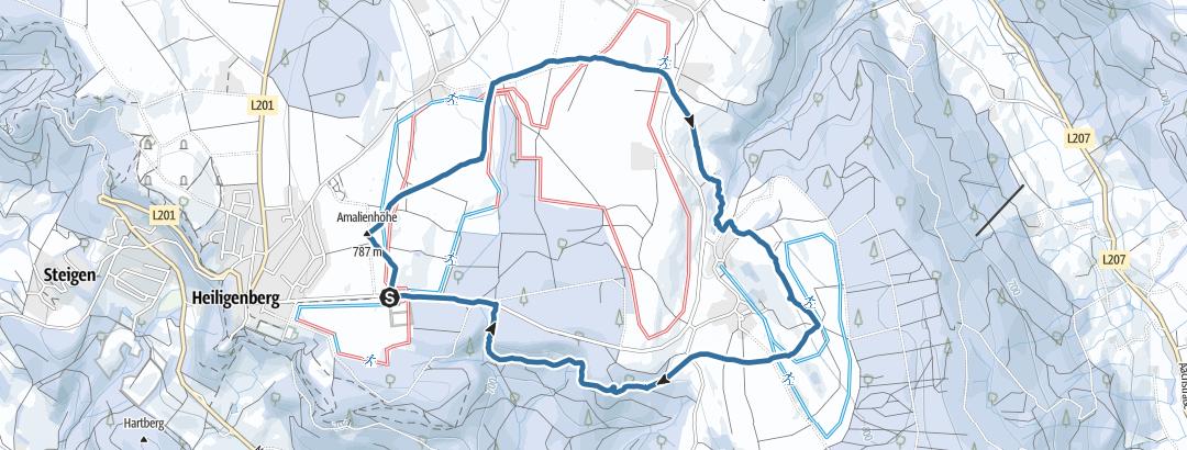 Karte / Schneeschuhtour um Heiligenberg