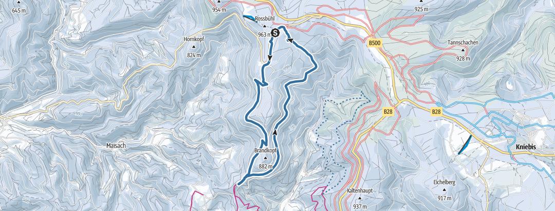 Map / Zuflucht über den Buchkopfturm zur Alexanderschanze