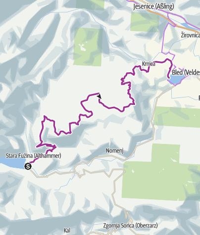 Map / NEU! Etappe 5 Wocheiner See - Bled