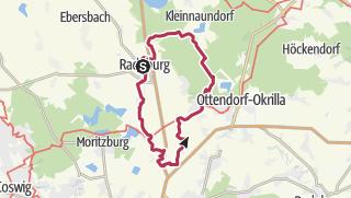 Karte / Rundweg Radeburg - Volkersdorf - Medingen - Radeburg