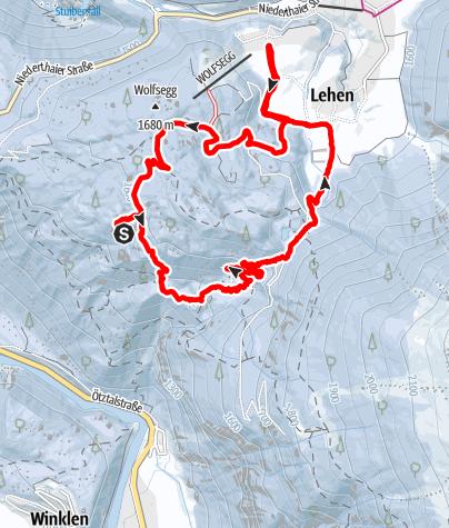 Kaart / Schneeschuhtour am  27. Februar 2019