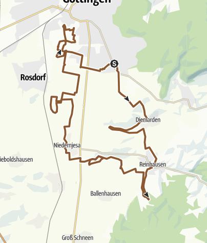 Karte / BJW/JWG MTB-Tour: 3 Seen-Rundfahrt