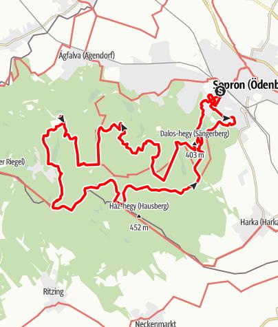 Map / SoproniTÁVlatok 40KM