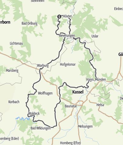 Karte / Tour 7 - Fachwerkstädte des Weserberglands