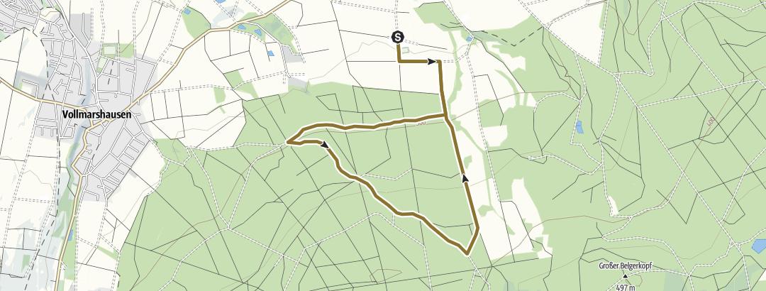 Karte / Reitweg Franzosenstraße