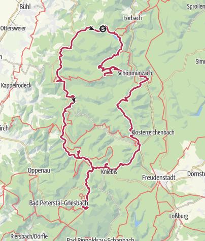 Map / Alle 10 Karseen im Naturpark Schwarzwald Mitte/Nord