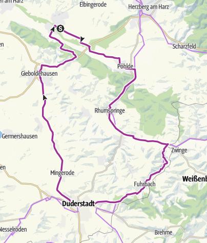 Karte / Rundtour zur heimlichen Hauptstadt des Eichsfeldes