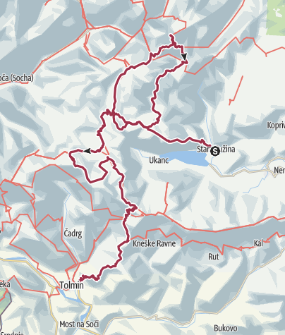 Map / Six days in Triglav National park, 2015