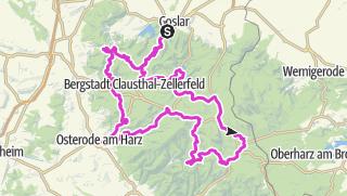 """Karte / """"Kleine"""" Westharztour"""