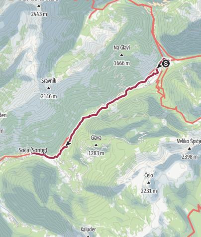 Map / Im Soca Tal 1. Tag