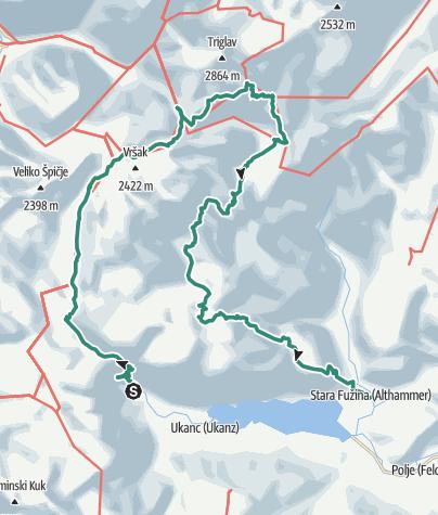 Map / Triglav National Park 4 Day Tour