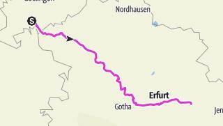 Karte / Südlich von Göttingen bis Weimar - vielfach entlang Leine und Unstrut mit dem Rennrad