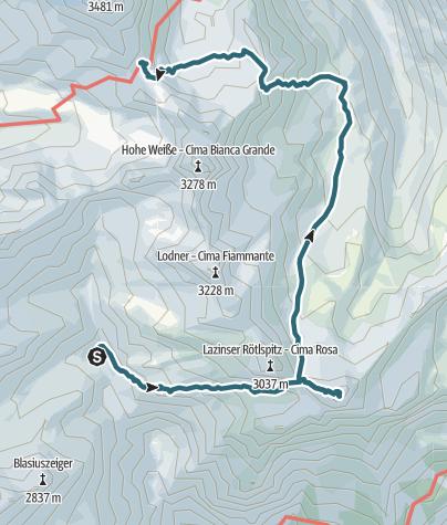 Map / Tour Texel Tag2_Tschigot