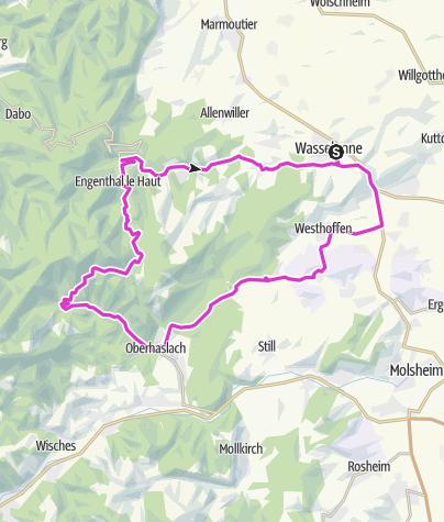 Carte / Vogesen 1 Wasellonne - Col de Pandour 8 Jul 2019