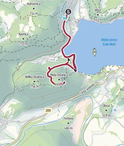 Zemljevid / Ojstrica & Osojnica