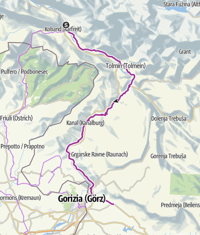 Map / Kobarid an Lijak Landeplatz