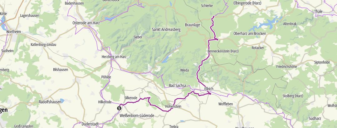 Karte / Das Grüne Band Teil 13: Von Brochthausen bis Elend