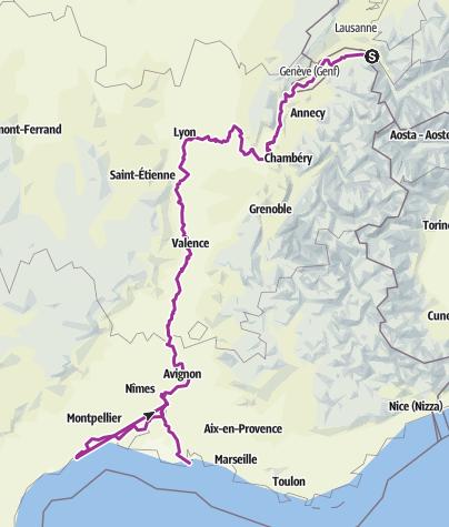 Carte / Tour aus GPX-Track am 24. August 2019